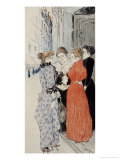 Women Conversing in the Street Giclee Print by Th&#233;ophile Alexandre Steinlen