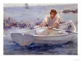 Man in a Rowing Boat, 1907 Print by Henry Scott Tuke