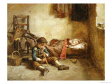 The Lullaby Premium Giclee Print by Pierre Edouard Frere