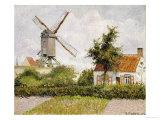 Windmill at Knock, Belgium, 1894 Reproduction giclée Premium par Camille Pissarro