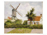 Windmill at Knock, Belgium, 1894 Giclee Print by Camille Pissarro