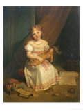 Her Favourite Doll Giclee Print by Jean Augustin Franquelin