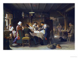A Game of Dice, 1873 Giclee Print by Max Kaltenmoser