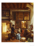A Dutch Interior, 1842 Giclee Print by Hubertus van Hove