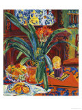 Still Life with a Pot Plant, Fruit and a Small Sculpture, circa 1920 Poster von Philipp Bauknecht