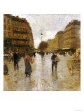 Parisian Street Scene Giclee Print by Luigi Loir