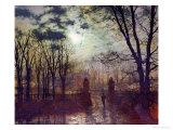 John Atkinson Grimshaw - At the Park Gate Digitálně vytištěná reprodukce