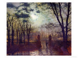 At the Park Gate Prints by John Atkinson Grimshaw