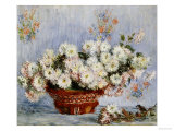 Chrysanthemums Prints by Claude Monet