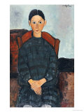 A young Girl with a Black Apron, 1918 Premium Giclee Print by Amedeo Modigliani