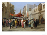 An Arab Wedding Procession, 1888 Giclee Print by Vincenzo Marinelli