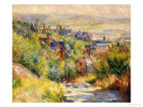 The Heights at Trouville Premium Giclee Print by Pierre-Auguste Renoir
