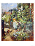 A Child in the Rosebeds, 1881 Giclee Print by Berthe Morisot