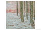 Winter in the Forest, 1912 Giclee Print by William Degouve De Nuncques