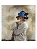 The Blue Hat Gicléetryck av Sir William Orpen