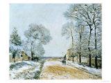 La Route, Effet de Neige, 1876 Prints by Alfred Sisley