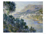 A View of Cape Martin, Monte Carlo Posters by Claude Monet
