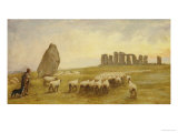 Returning Home, Stonehenge, Wiltshire Giclee Print by Edgar Barclay