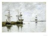 Scene Du Port, circa 1880 Posters by Eugène Boudin
