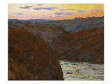 La Creuse, Sunset Giclee Print by Claude Monet