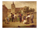 Hopscotch Giclee Print by Theophile Emmanuel Duverger