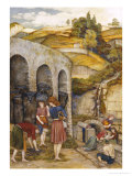 Charcoal Thieves Print by John Roddam Spencer Stanhope