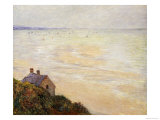 The Hut at Trouville, Low Tide, 1881 Art by Claude Monet