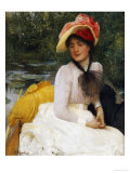 Girl in a Punt Print by Arthur Hacker