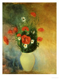 Poppies and Daisies Art by Odilon Redon