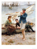 Return from Fishing, 1907 Giclee Print by Henry Scott Tuke