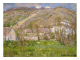 Hamlet on a Cliff Near Giverny Print by Claude Monet