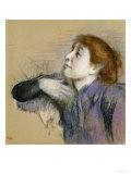 Bust of a Woman, circa 1880-85 Giclée-tryk af Edgar Degas