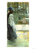 A Promenade by the Canal Giclee Print by Franz Skarbina