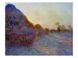 Haystacks Giclee Print by Claude Monet