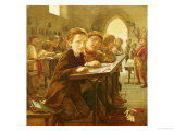 In the Classroom (Mid 19th Century) Giclee Print by J. Harris