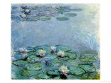 Water Lilies, Nympheas Reproduction procédé giclée par Claude Monet