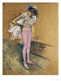 A Dancer Adjusting Her Leotard Láminas por Henri de Toulouse-Lautrec