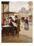 Parisian Street Scene Giclee Print by Francisco Miralles Y Galup