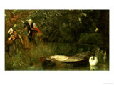 The Lady of Shalott, 1873 Giclee Print by Arthur Hughes