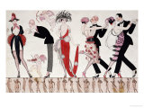 The Tango Reproduction procédé giclée par Georges Barbier
