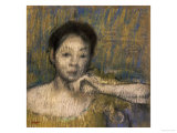 Bust of a Woman with Her Left Hand on Her Chin, circa 1895-98 Giclee Print by Edgar Degas