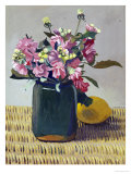 A Bouquet OF Flowers and a Lemon, 1924 Premium Giclee Print by Félix Vallotton