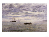 Chesil Beach, Rain Clearing Off, 1883 Giclee Print by Henry Moore (II)