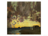 Sunset by the Sea Affischer av Franz von Stuck