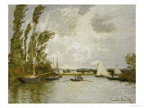 The Little Branch of the Seine Premium Giclee Print by Claude Monet