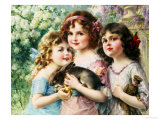 The Three Graces Giclee Print by Emile Vernon