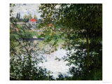 Ile de la Grande Jatte, Through the Trees, 1878 Gicléedruk van Claude Monet