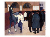 Horse Dealers at the Barbican, circa 1918 Giclée-Druck von Robert Bevan