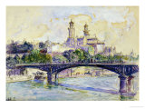 The Seine in front of the Trocadero Giclee Print by Henri Edmond Cross