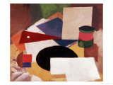 Still Life, Square on a White Background with a Black Disc Posters by Roger de La Fresnaye